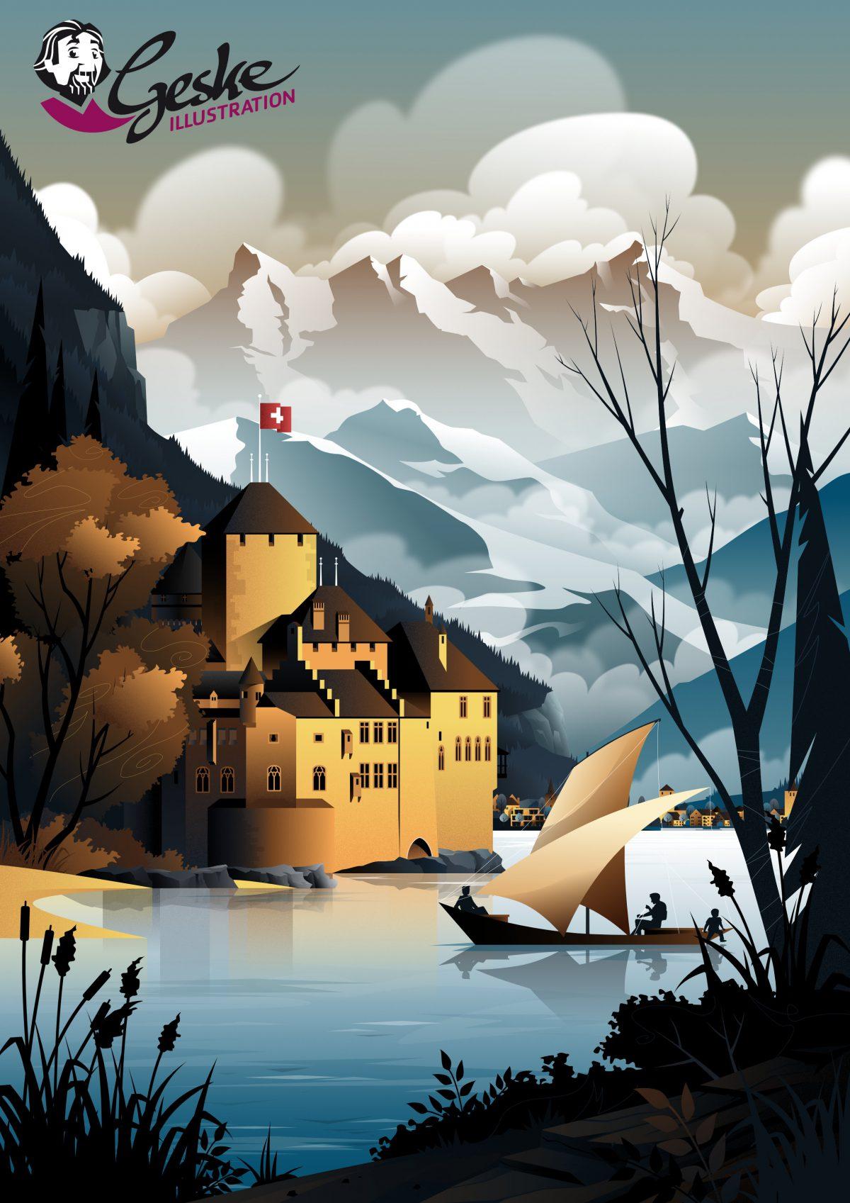 Schloss Chillon am Genfer See