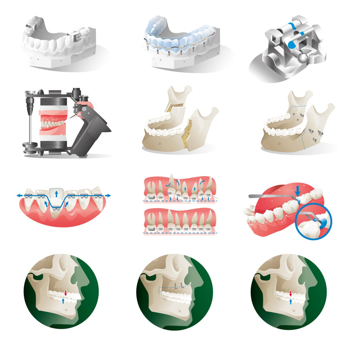 Dentalmedizinische Piktogramme